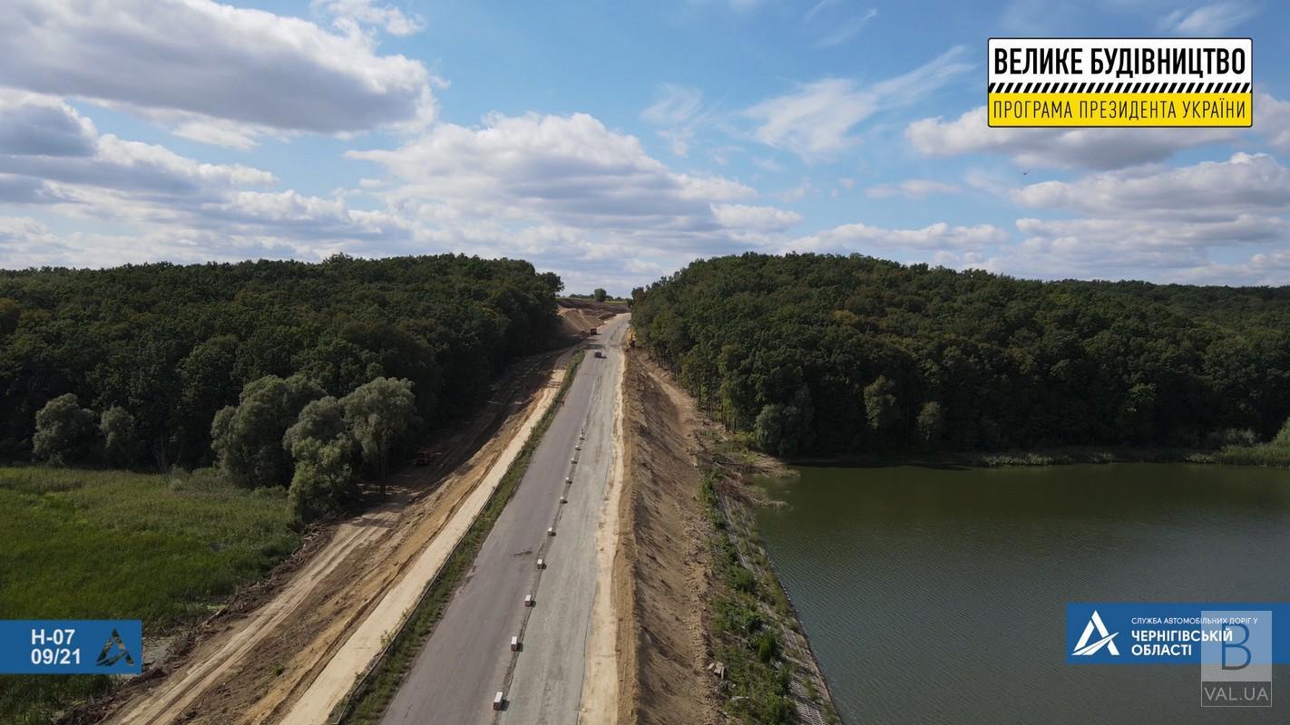 Поблизу Тростянецької Балки на Чернігівщині стартував ремонт дороги. ФОТО