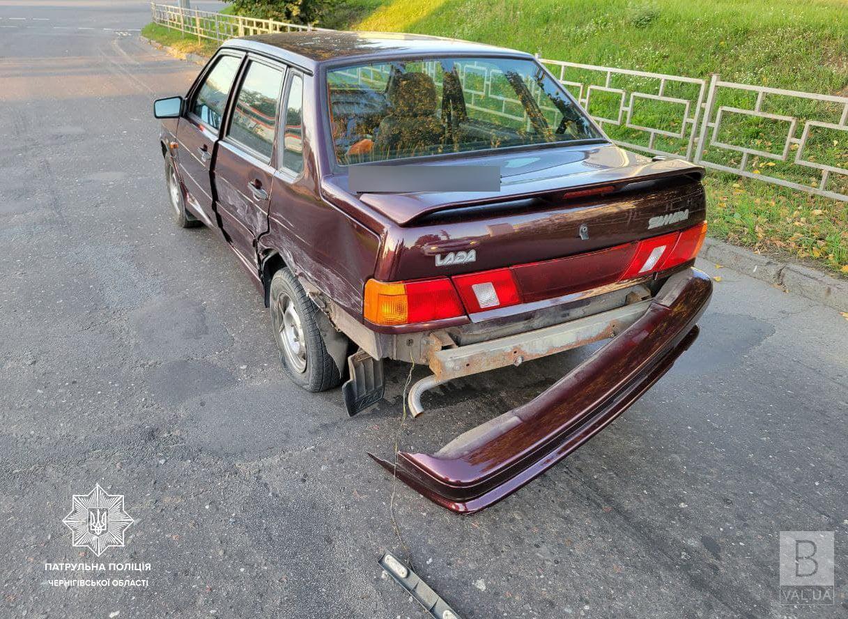 У Чернігові п'яний водій спричинив ДТП та втік з місця аварії. ФОТО