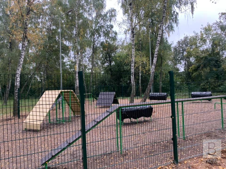 У Чернігові вже майже готовий один із трьох майданчиків для вигулу собак