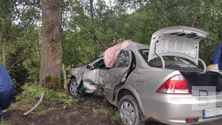 У Мені легковик зіткнувся з деревом: 61-річний водій в реанімації