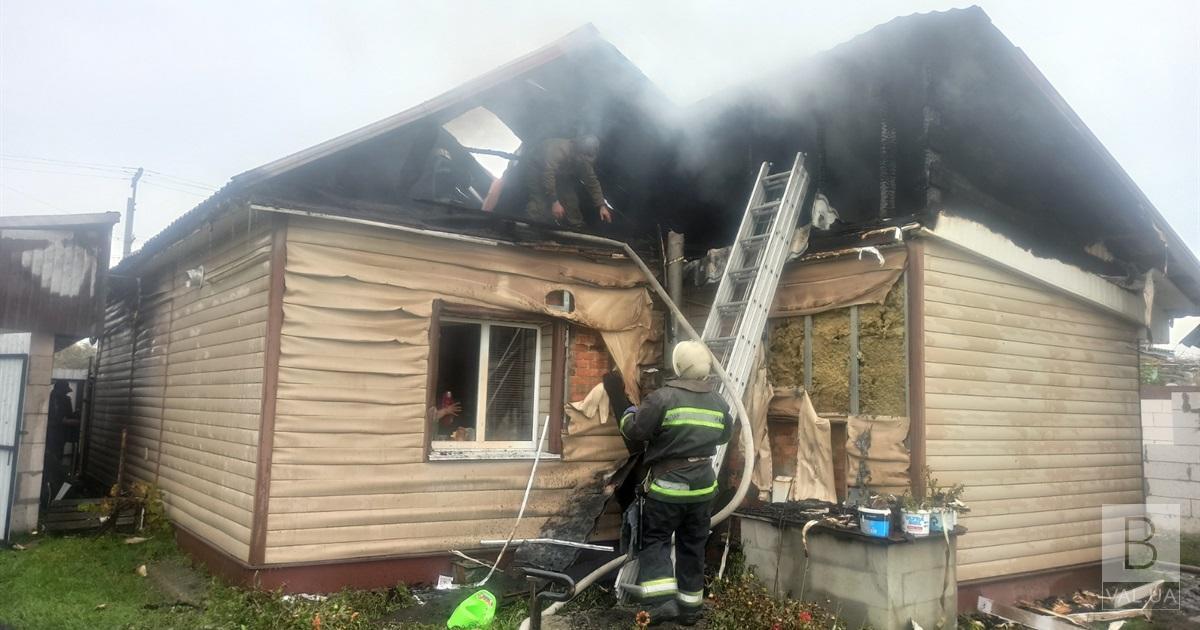 На Чернігівщині сім'я дивилася телевізор, коли загорівся їх будинок