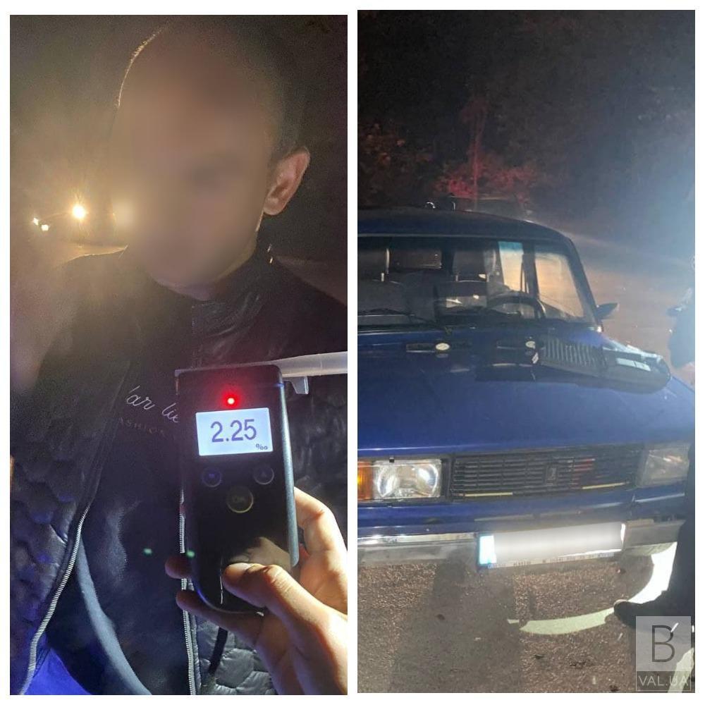 В 11 разів перевищував норму: у Чернігові затримали чергового п'яного водія