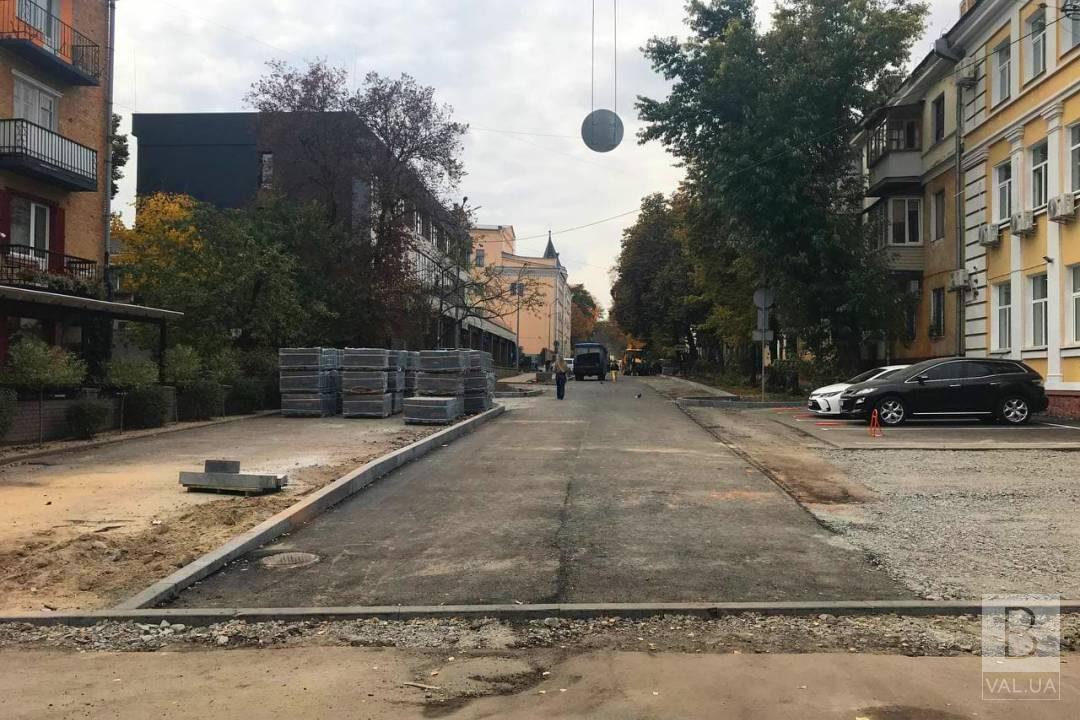 Вулицю Святомиколаївську незабаром оздоблять клінкерною цеглою. ФОТО