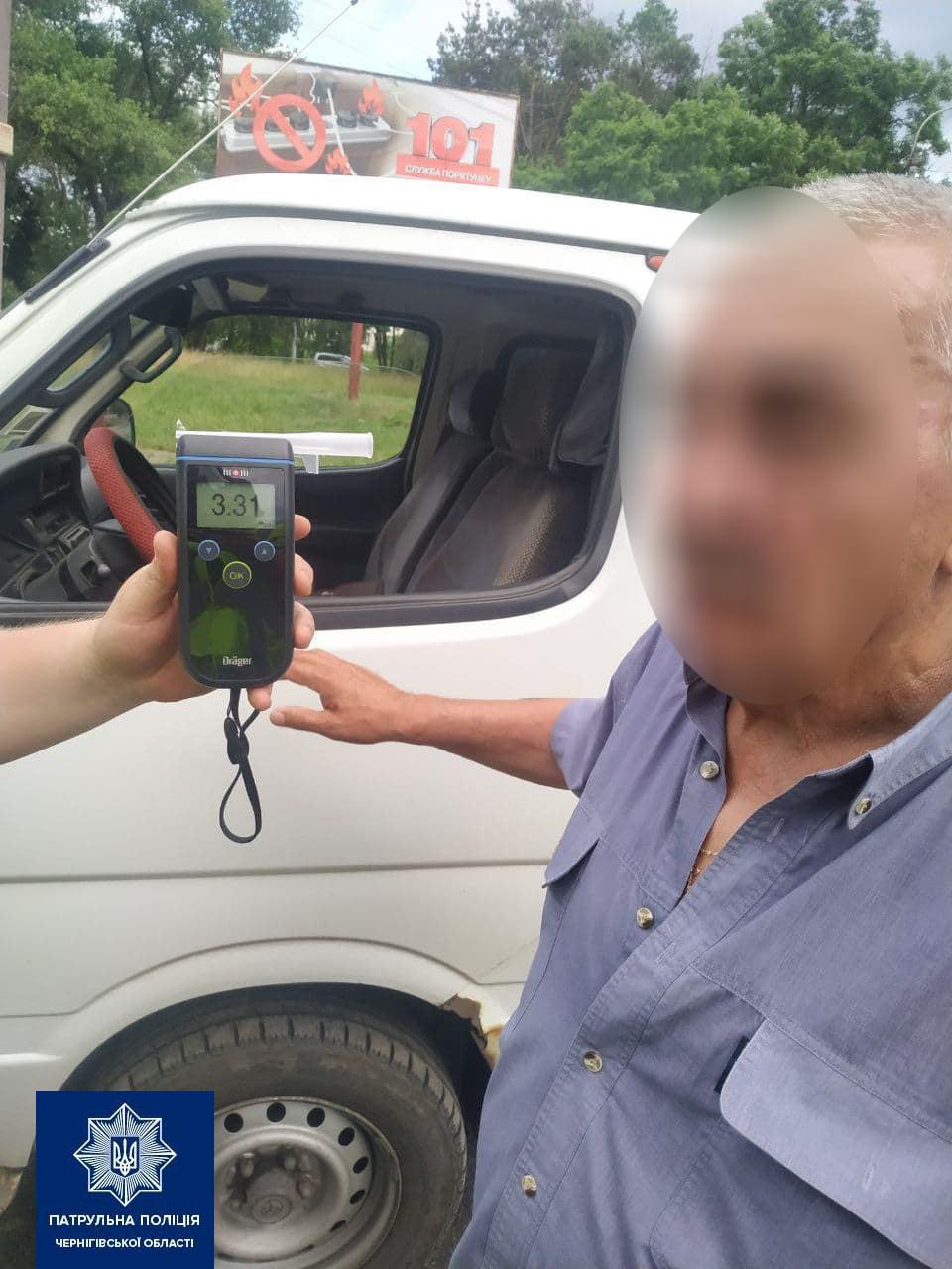 У Чернігові водій, що потрапив у ДТП, мав у 16 разів перевищену норму алкоголю у крові