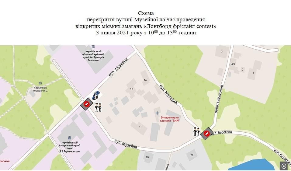 3 липня вулицю Музейну перекриють для проведення спортивних змагань