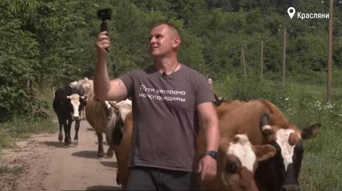 На Чернігівщині фермер-блогер рятує корів від скотобійні