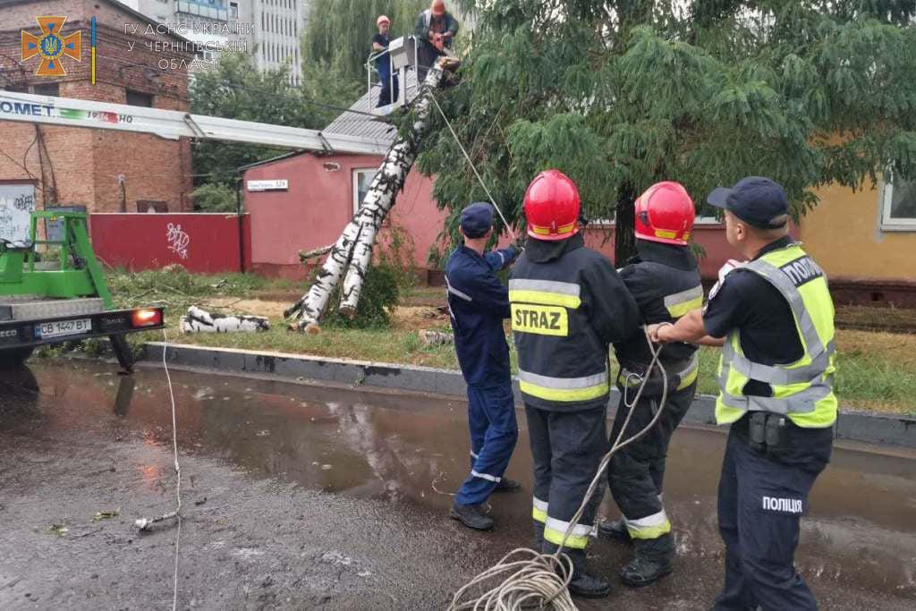 Негода на Чернігівщині заблокувала 3 шляхи. ФОТО