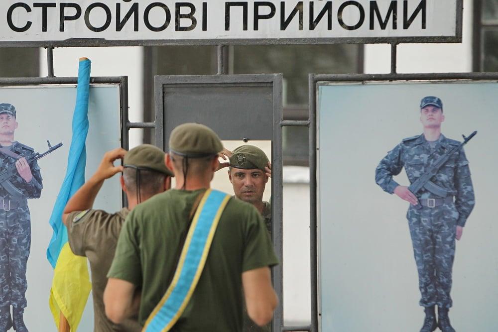Майже 300 резервістів та воїнів тероборони Чернігівщини готуються до участі у параді до 30-річчя Незалежності. ФОТО
