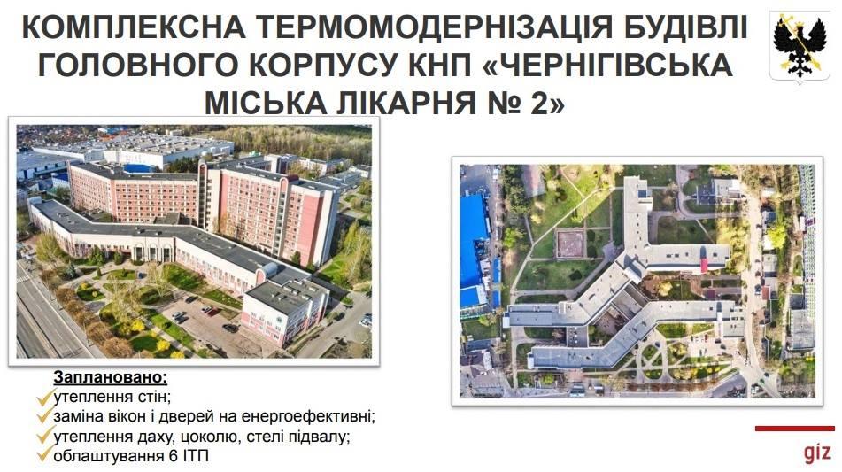 За 120 мільйонів гривень: Чернігівську міську лікарню №2 хочуть утеплити