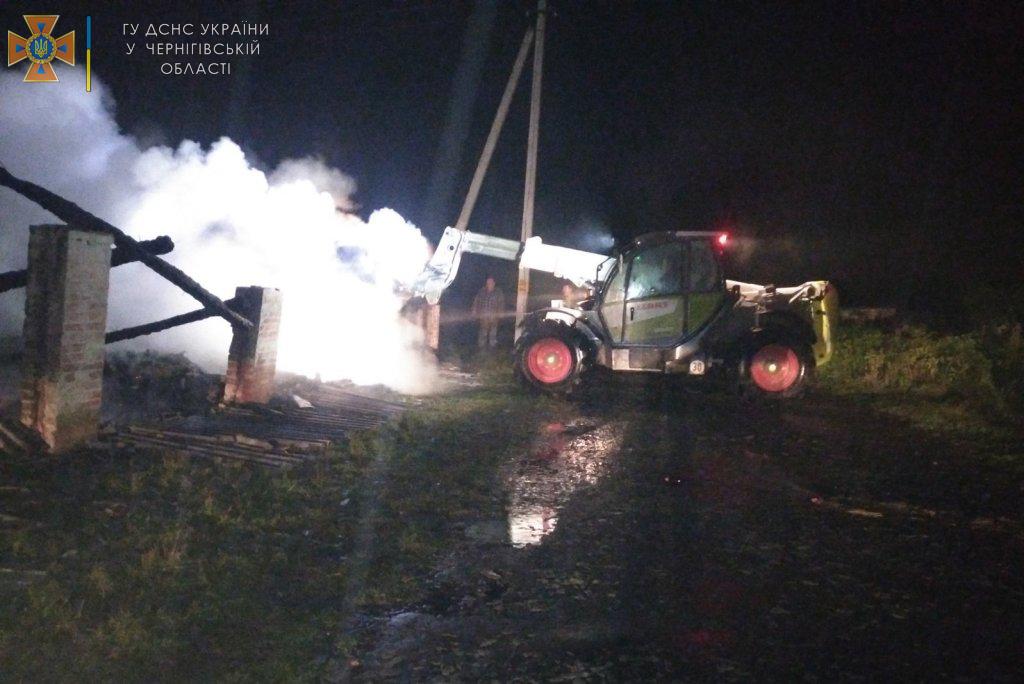 У Менській громаді згоріли 12 тонн сіна. Ймовірна причина — підпал