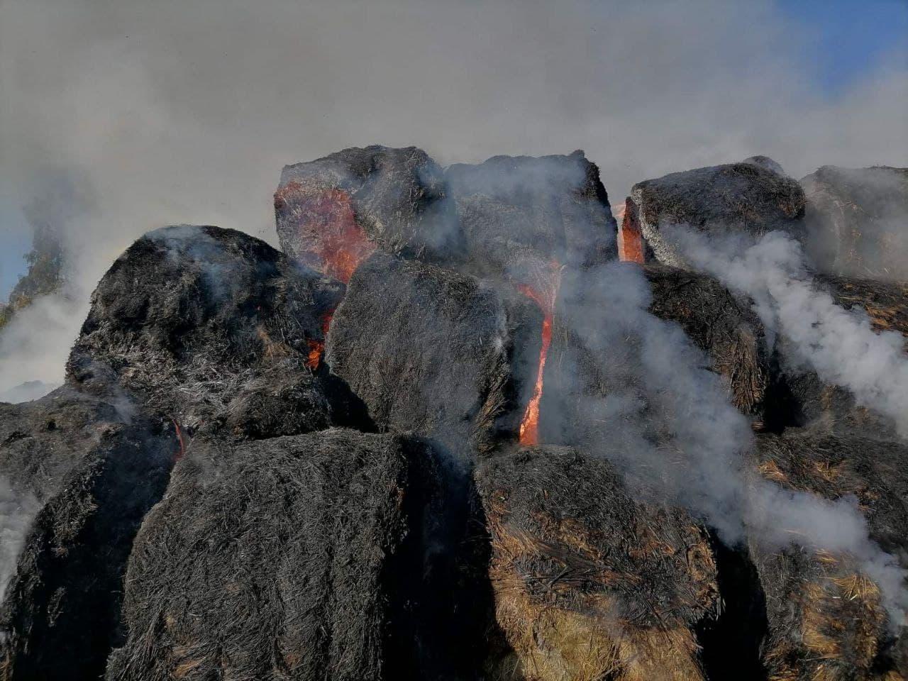 Необережне поводження з вогнем: у Чернігівському районі згоріли 17 тонн сіна. ФОТО