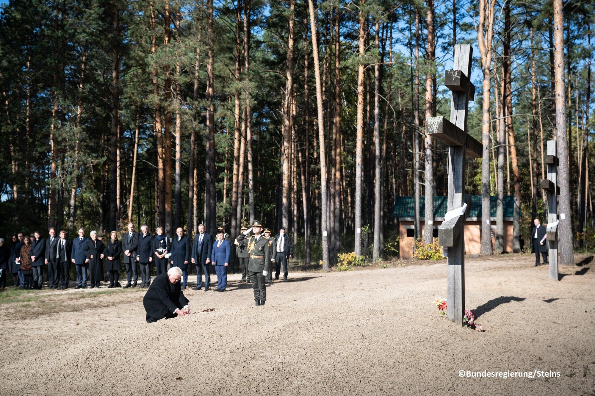 Президент Німеччини вшанував пам'ять жертв Корюківської трагедії. ФОТО