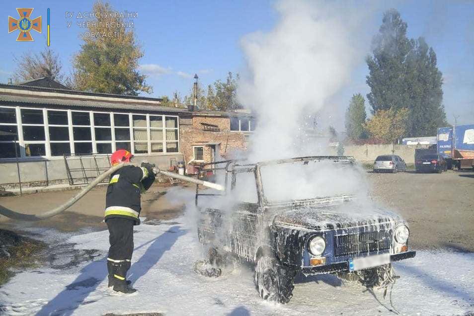 На Ремзаводській згоріла автівка. ФОТОфакт
